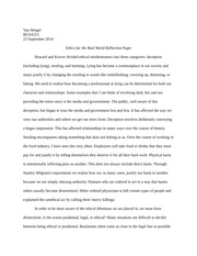 Ethics for the Real World Reflection Paper