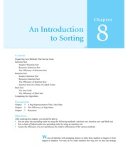 Chapter 8 An Introduction to Sorting