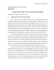 ECON 1110 Lecture Notes 12