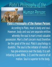 Plato's Philosophy of the Human Person Class Presentation.ppt