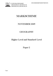 Geography HL+SL - November 2005 - paper 2ms
