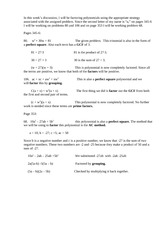 MAT 221 Week 5 DQ1 Factoring