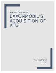 ExxonMobil's acquisition of XTO