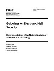 Module 8 - Reading Companion Tutorial 2 - Electronic Mail Security Standard - SP800-45v2.pdf