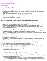 Study Questions for Psychological Disorder.pdf