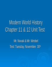 Chapter 11 _ 12 Unit Test Review