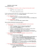 CMN137-Intercultural Communication Midterm Study Guide