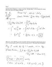 Exam 3 Solution Fall 2009 on Calculus and Analytic Geometry IV