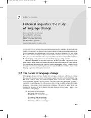 Chapter 7 Historical linguistics- the study of language change.pdf