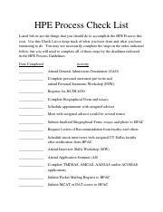 HPE-Process-Check-List