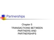 Partnerships Chapter 5