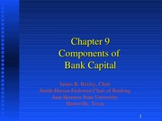 Bank Mgt. 5th Ed, Chapter 9 Revised