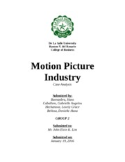 3 Motion Picture Industry