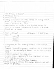 Notes from Different Short Stories and Midterm Review