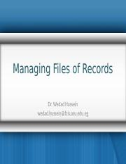 File Organization Lec6