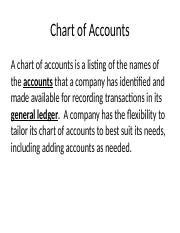 Chapter 3 - Balance Sheet and Financial Disclosures