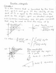 Examples (Double integrals in Cartesian and polar coordinates).pdf