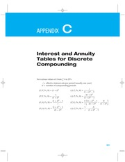 Appendix C_D Interest and Annuity Tables for Discrete and Continuous Compounding
