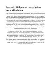 Untitled document (1) pdf - Lawsuit Walgreens prescription