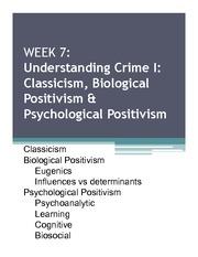 classicism and positivism