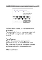 KIN 1088B Class Notes Electric Current Causes Depolarization of muscle