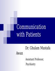 Communication with Patient.ppt