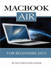 MacBook Air For Beginners 2015 by Matthew Hollinder.pdf