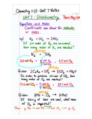 Chemistry 11-Unit 7 Class Notes