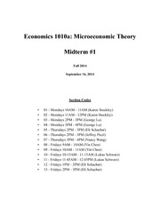 ECON1010a Fall 2014 Midterm 1