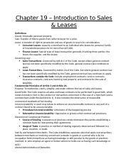 Chapter 19 - Into to Sales and Leases.docx