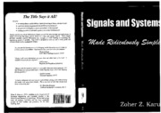 Signals and Systems Made Ridiculously Simple - Zoher J. Karu