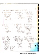Adding And Subtracting Fractions reviewsheet