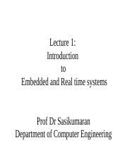 LECTURE_1 INTROD TO EMBEDDED&RT SYSTEMS