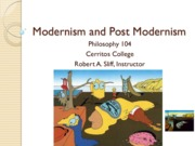 Modernism and Post Modernism Sp 12