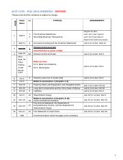 Acct 1235 - F2014 - Syllabus - Revised schedule
