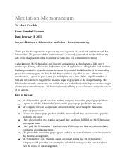 Memorandum for Contract Case Study - Memorandum TO Alexis ...