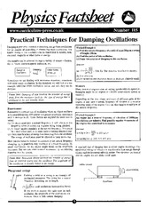 Practical Techniques for Damping Oscillations