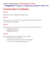 Assignments 5 Chapter 11 (Problems)