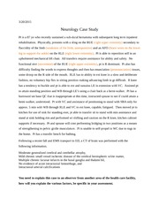 Neurology Case Study