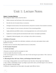 EC141 Lecture notes (Week 1 - Week 8)