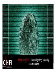 CHFI v4 Module 46 Investigating Identity Theft Cases
