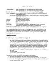 Fall Resume one