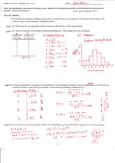 Test 3 Fall 2008 Solution on Statistics and Probability