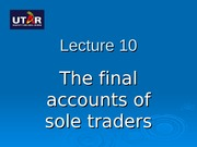 BA1 L10 The final accounts of a sole trader