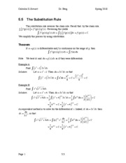Calculus II Notes 5.5