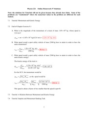 Online Homework 7 Solutions