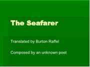 The Seafarer ppt (1)