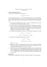Statistical Mechanics and RationingClass Notes week6