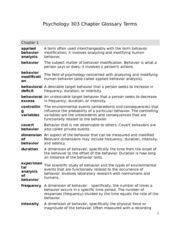 Psychology 303 Chapter Glossary Terms-1