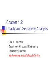 Chap 4.3 duality and Sensitivity Analysis.pdf